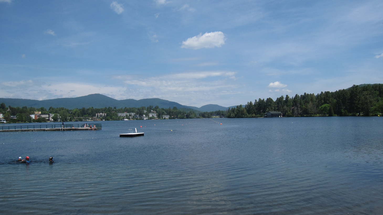 Mirror Lake in the Village of Lake Placid, New York
