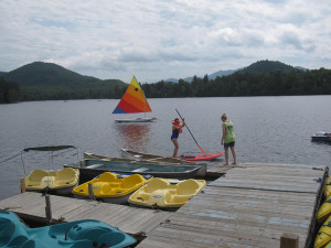 Stand up paddleboard instruction in the Adirondacks.