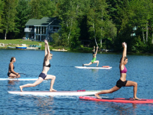 SUP Yoga Clinic in Lake Placid