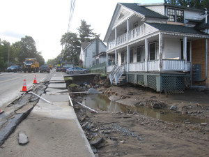 hurricane irene damage in Keene, New York.