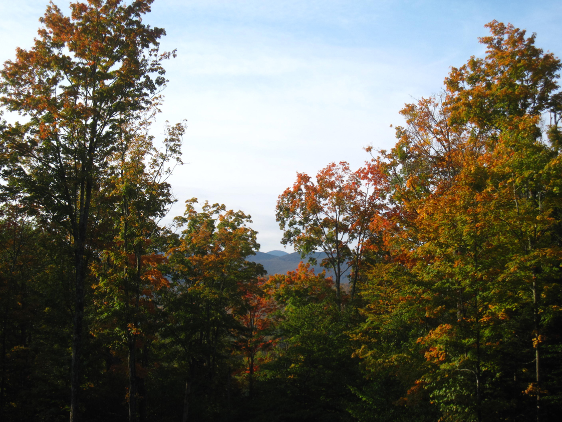 View from home in Lake Placid on Autumn Equinox 2011
