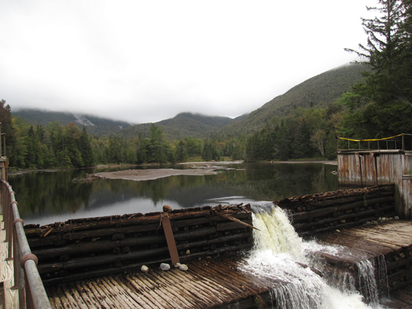 Marcy Dam Hurricane Irene damage.