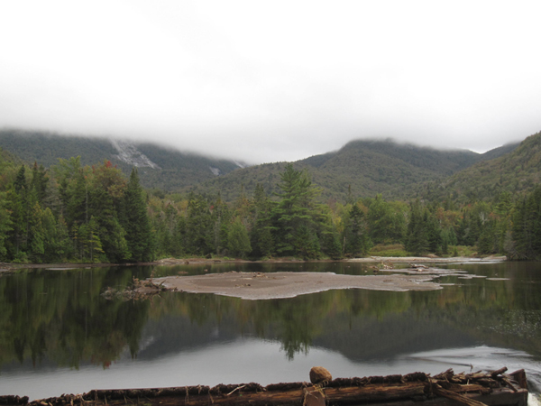 The view from Marcy Dam post Hurricane Irene.
