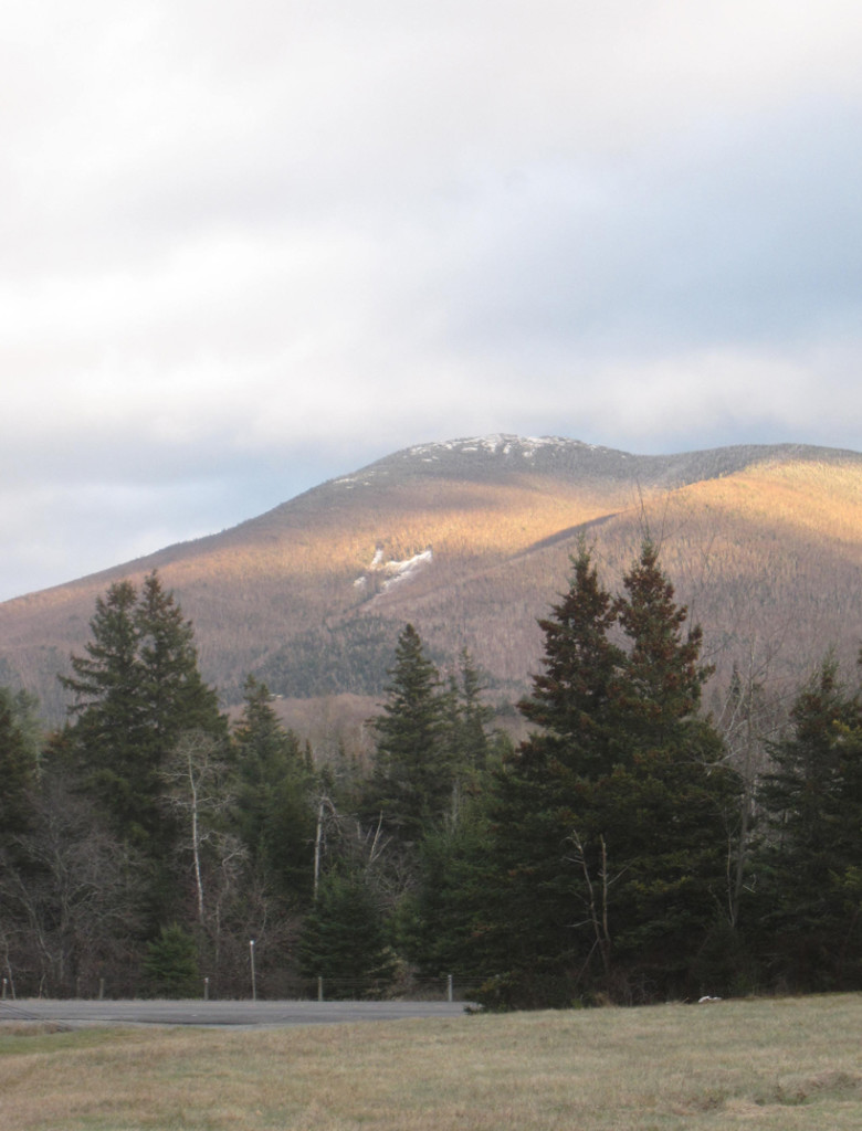Lucky 7 Slide on Cascade Mountain in the Adirondacks, from Mount Van Hoevenberg X-C Ski Trails.