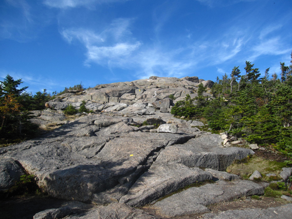 Rocky approach to the summit of Cascade Mountain