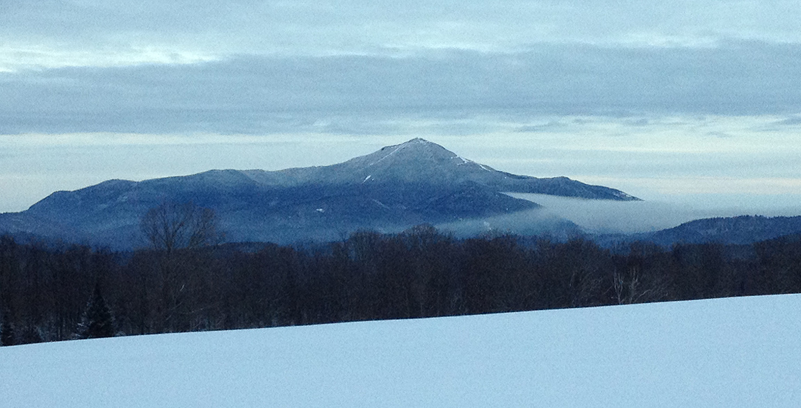 From the cross-country ski trail in Lake Placid.