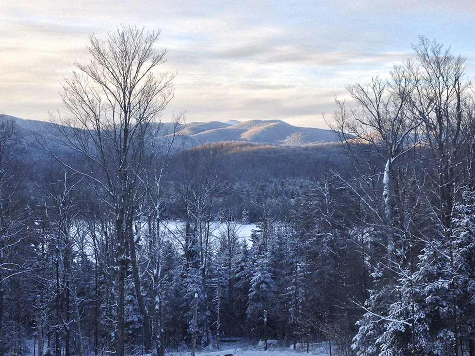 Fresh snow on Mt Marcy from Adk Lifestyle 02-06-14