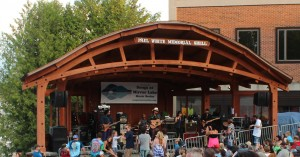 held outdoors at the bandshell in Mid's Park, on Main Street, in Lake Placid,