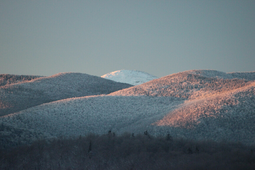 Winter Sunrise on Mt. Marcy in the Adirondack Mountains