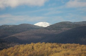 Snow covered Mt. Marcy, Adirondack Mountains, NYS, May 11, 2017