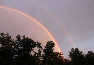 Lake Placid Double Rainbow